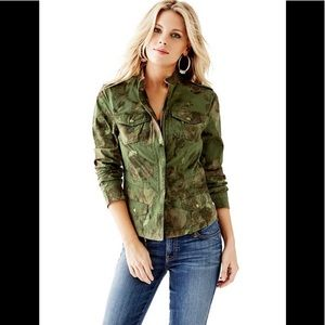 Guess- floral camo Moto jacket
